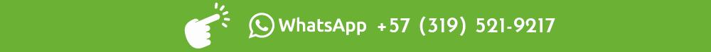 boton con fondo de color verde que contiene una mano señalando hacia un logo de la aplicación whatsapp, ademas se ve el número de teléfono de la entidad Digan Cheese, todos los elementos anteriormente mencioando son de color blanco.